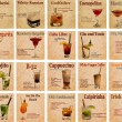 Set of cocktail recipes — Stock Photo #77518726