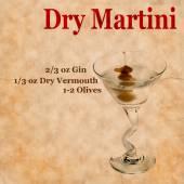 Dry Martini Recipe — Stock Photo