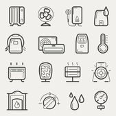Climatic equipment icons — Stock Vector
