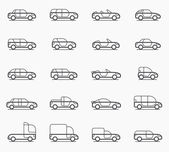 Car body types icons — Vector de stock