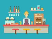 Bar counter — Stock Vector