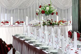 Table set for event party or wedding reception — Stock Photo
