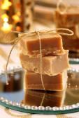 Christmas homemade fudge on the table — Stock Photo