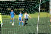 Young boys play football match — Stock Photo