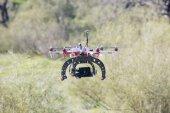 Hexacopter flying — Stock Photo