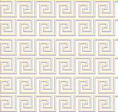 Upprepande labyrint som design rainbow — Stockfoto