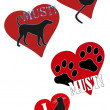 Постер, плакат: Must love animals cats dogs
