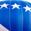 Blue and white hot air balloon — Stock Photo #73028865