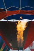 Flame from burner of hot air balloon — Stock fotografie