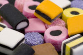 Background of liqurice allsorts sweets. — Stock Photo