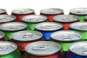 Background of drinks can ring pull tops — Stock Photo
