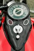 Classic motorcycle speedometer — Stock Photo