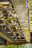 Victorian railway bridge underneath view — Stock Photo
