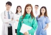Professional medical doctor team standing — Stok fotoğraf