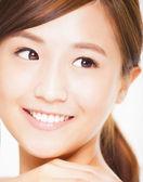 Closeup Beautiful  young woman face — Stock Photo