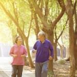 Senior Couple Exercising In Park — Stock Photo #62923917