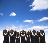 Rear view Of  Students Celebrating Graduation  — Stock Photo