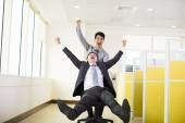 Happy business people having fun in office — Stock Photo