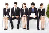 Stress business people waiting for interview — Stock Photo