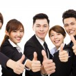 Smiling business people with thumbs up — Stock Photo #78752524