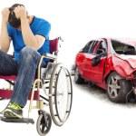 stress e paciente de deficientes com o conceito de acidente de carro — Fotografia Stock  #80825610