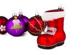 Bolas de navidad coloridas — Foto de Stock