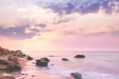 Sea - Sunrise landscape over beautiful rocky coastline  — Stock Photo
