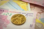 Bright ukrainian money background  — Stock Photo