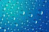 Big Water Drops Abstract Background - super macro — Stock Photo