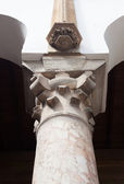 The Top of Classical Column, Marble stone — Stock Photo