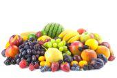 Mix of Fresh Organic Fruits isolated on white  — Stock Photo