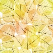 Seamless Background - Autumn Leaves Pattern  — Stock Photo