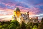 Fairy Palace against sunset sky -  Sintra, Portugal, Europe — Stock Photo