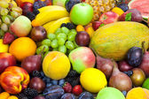 Mix of organic fruits - background — Foto Stock