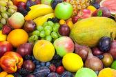 Mix of organic fruits - background — Foto Stock