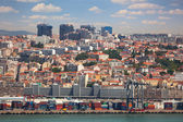 Port, Containers , New and Old districts of Lisbon, Portugal — Stock Photo