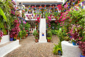 Courtyard with Flowers decorated  - Patio Fest, Spain, Europe — Stock Photo