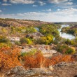Beautiful Sunny Autumn Day  - Panoramic view on the river, color — Stock Photo #54390713