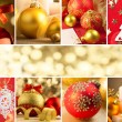 Christmas Decorations, Border - Background with copy space — Stock Photo #56736615