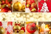 Christmas Decorations, Border - Background with copy space — Stockfoto