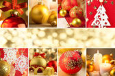 Christmas Decorations, Border - Background with copy space — Photo