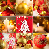 Set of Christmas Red and Golden  Backgrounds — Stockfoto