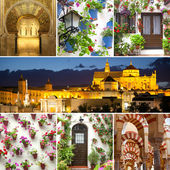 Set of Famous Landmarks and Decorated Exteriors — Stock Photo