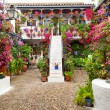 Courtyard with Flowers decorated  - Patio Fest, Spain, Europe — Stock Photo #69284103