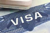 The American Visa in a passport page (USA) — Stock Photo