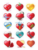 Hearts 3 — Stock Vector