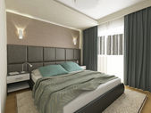 Elegand modern bedroom interior design — Stock Photo