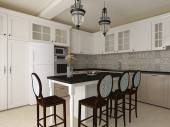 Elgant kitchen interior — Stock Photo