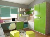 Colorful children bedroom interior — Stock Photo