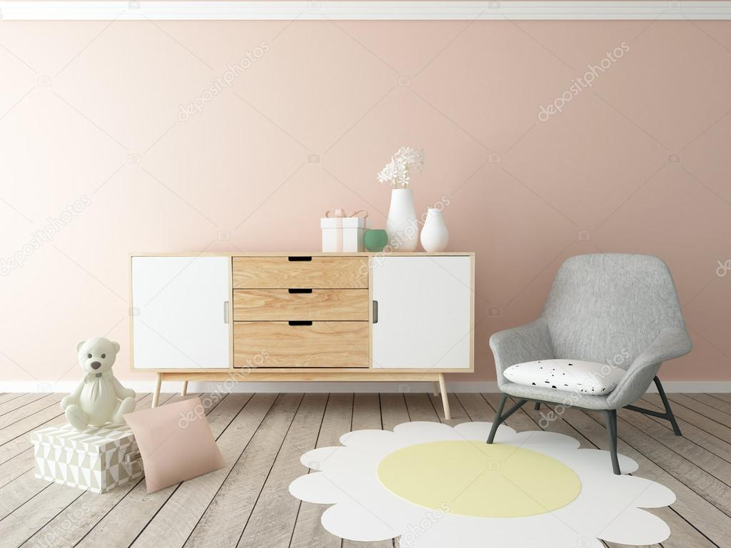Lekrummet interiör, baby rum, flicka — Stockfotografi © zuzulicea ...